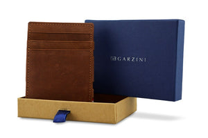 Garzini RFID Leather Magic Wallet Vintage-Brown