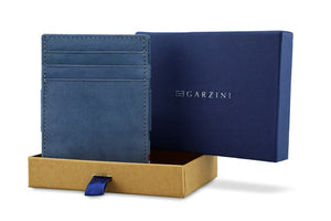 Garzini RFID Leather Magic Wallet Plus Vintage-Blue