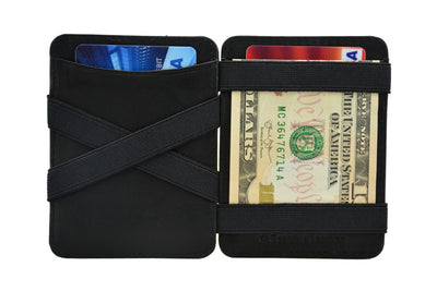 Hunterson Leather Magic Wallet - Black
