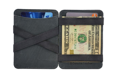 Hunterson Leather Magic Wallet - Grey