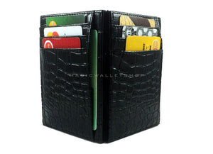 Pegasus Reptile Leather Magic Wallet-Black