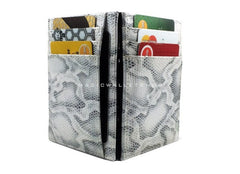 Pegasus Snake Leather Magic Wallet - White