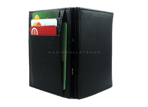 Pegasus Leather Magic Coin Wallet-Black