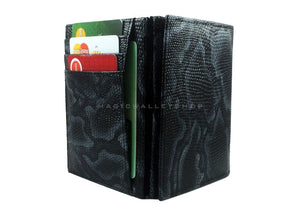 Pegasus Snake Leather Magic Coin Wallet-Black