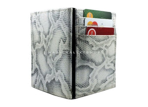 Pegasus Snake Leather Magic Coin Wallet-White