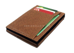 Pegasus Vinyl Magic Coin Wallet-Cognac