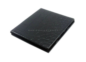 Slim Magic Wallet Reptile Leather-Black
