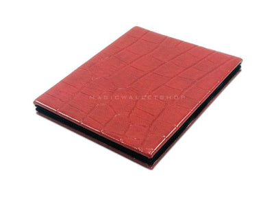 Slim Magic Wallet Reptile Leather - Red