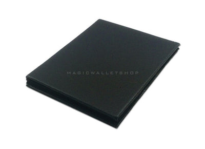 Slim Magic Wallet Leather Black Veins -
