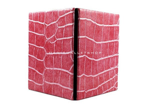 Slim Magic Wallet Reptile Leather-Pink