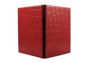 Slim Magic Wallet Reptile Leather-Red