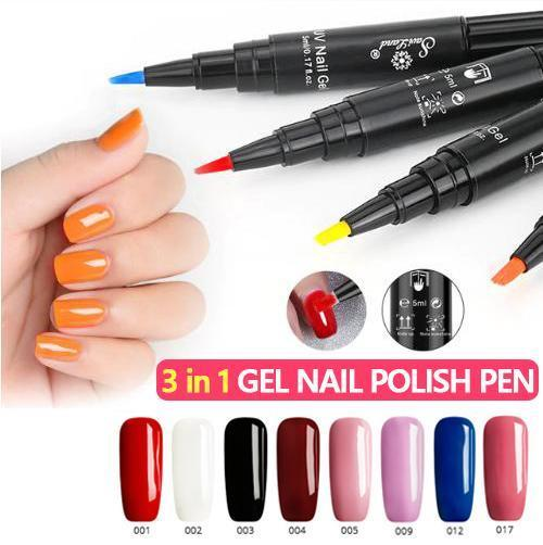 3 In 1 Gel Nail Polish Pen (Set Of 3)