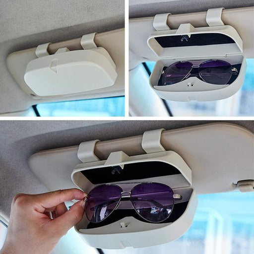 Practical Automotive Eyeglasses Case, Easy to Install, Keep Your Glasses Clean, In Four Colors