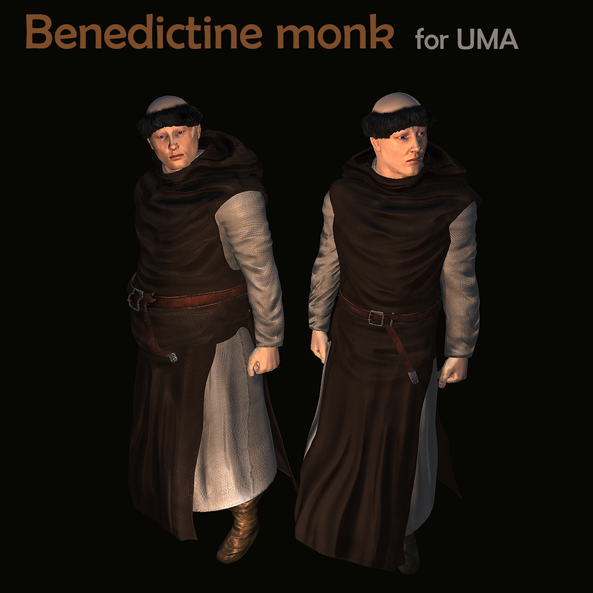 Benedictine Monk for Unity UMA 2.5 & Above