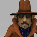 Cartoon 70s Detective