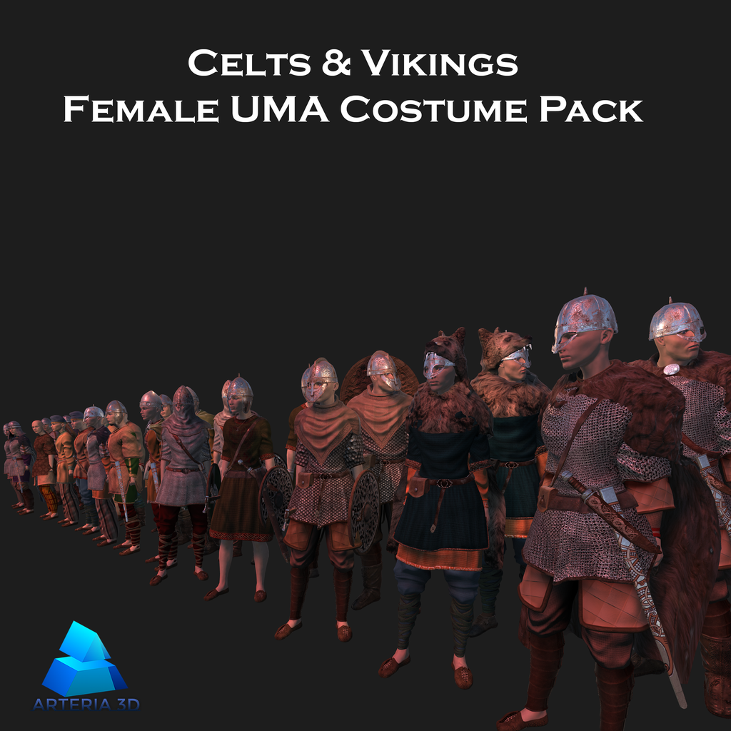 Costume Collections for Unity 5 UMA2 3D Characters – arteria3d