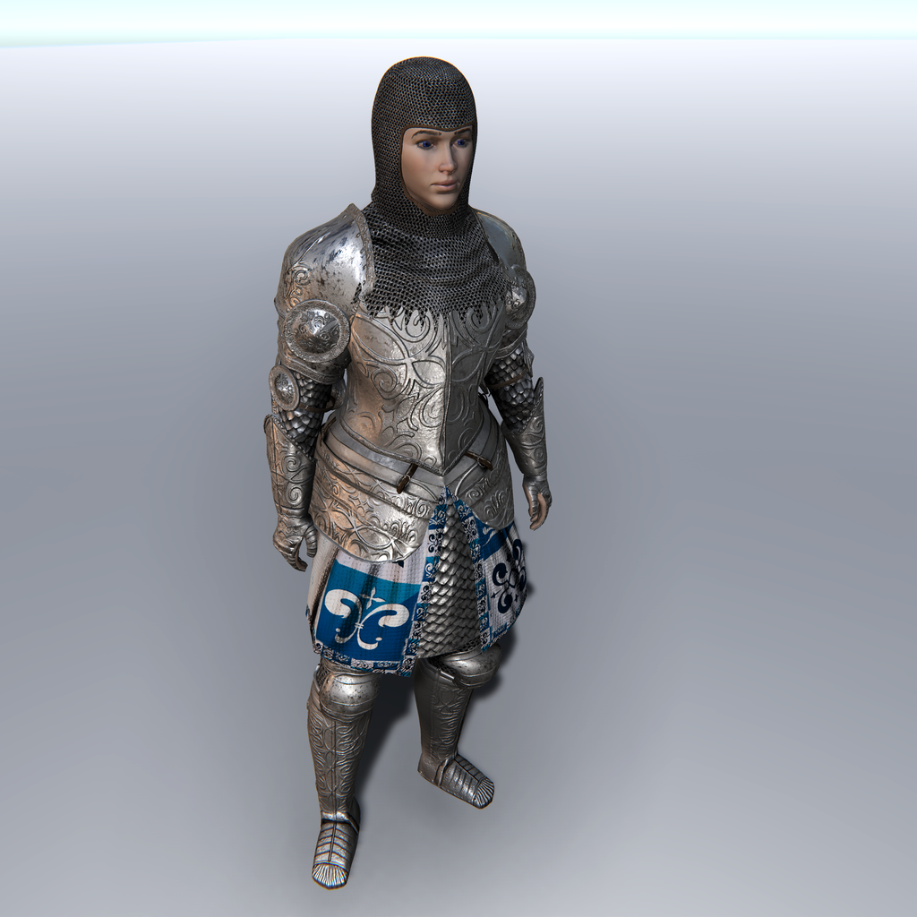 Female Knight A for Unity UMA 2.5 and above