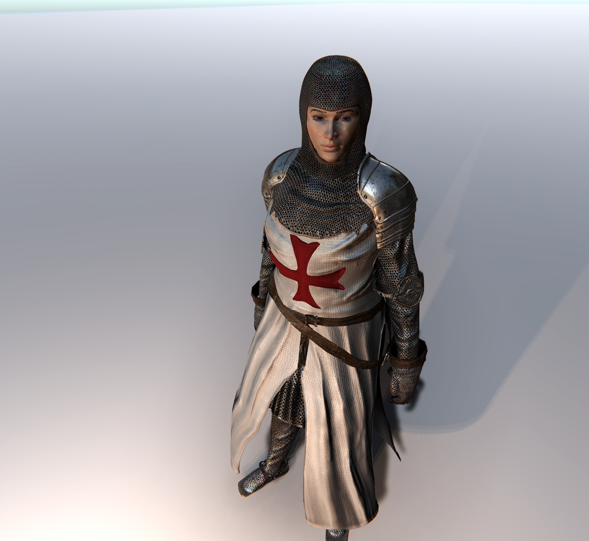 Female Crusader for Unity UMA 2.5