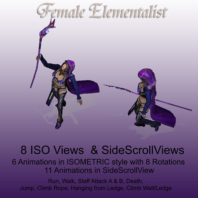 Female Elementalist 2d