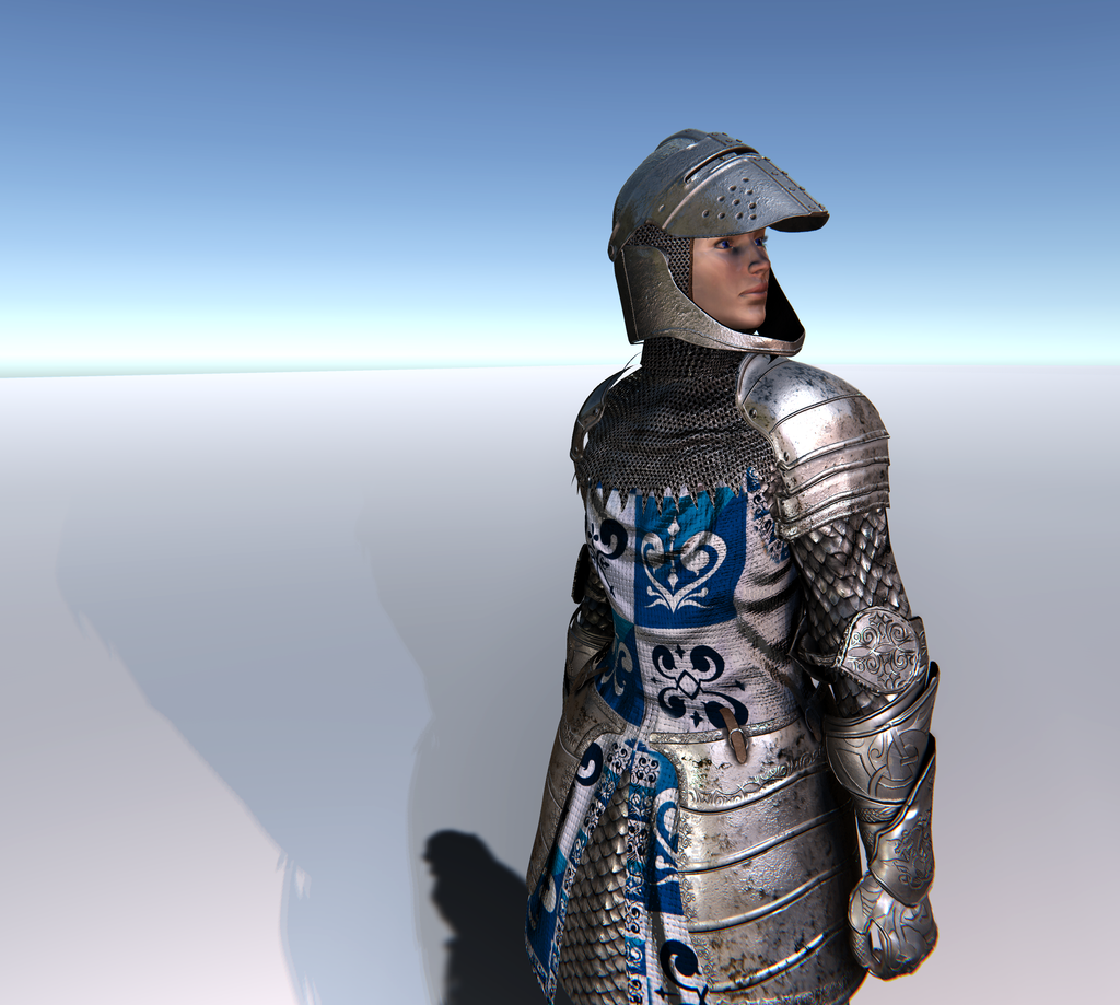 Female Knight B for Unity UMA 2.5 and above