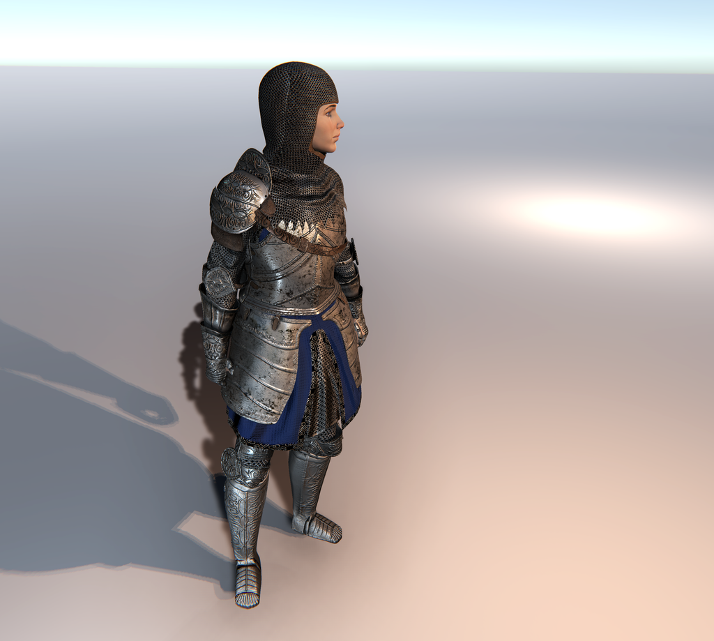Female Knight C for Unity UMA 2.5 and above
