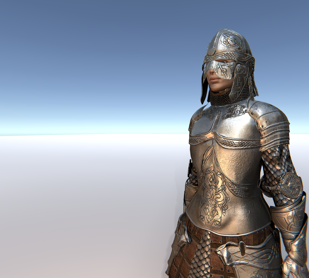 Female Knight D for Unity UMA 2.5 and above