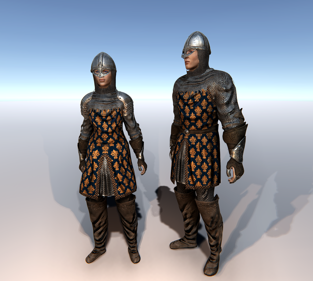 Male & Female Knight E for Unity UMA 2.5 and above