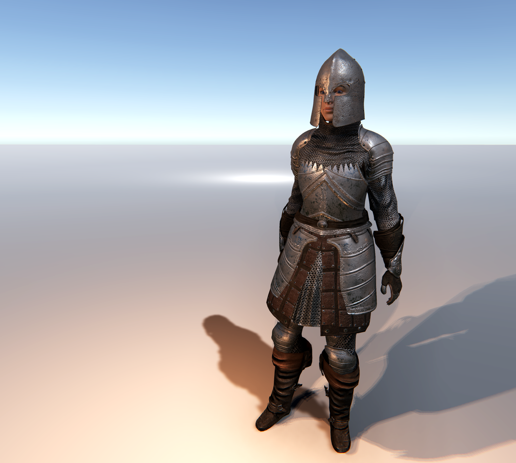 Female Knight F for Unity UMA 2.5 and above