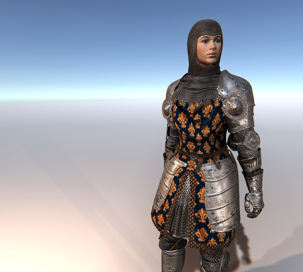 Male & Female Knight G for Unity UMA 2.5 and above