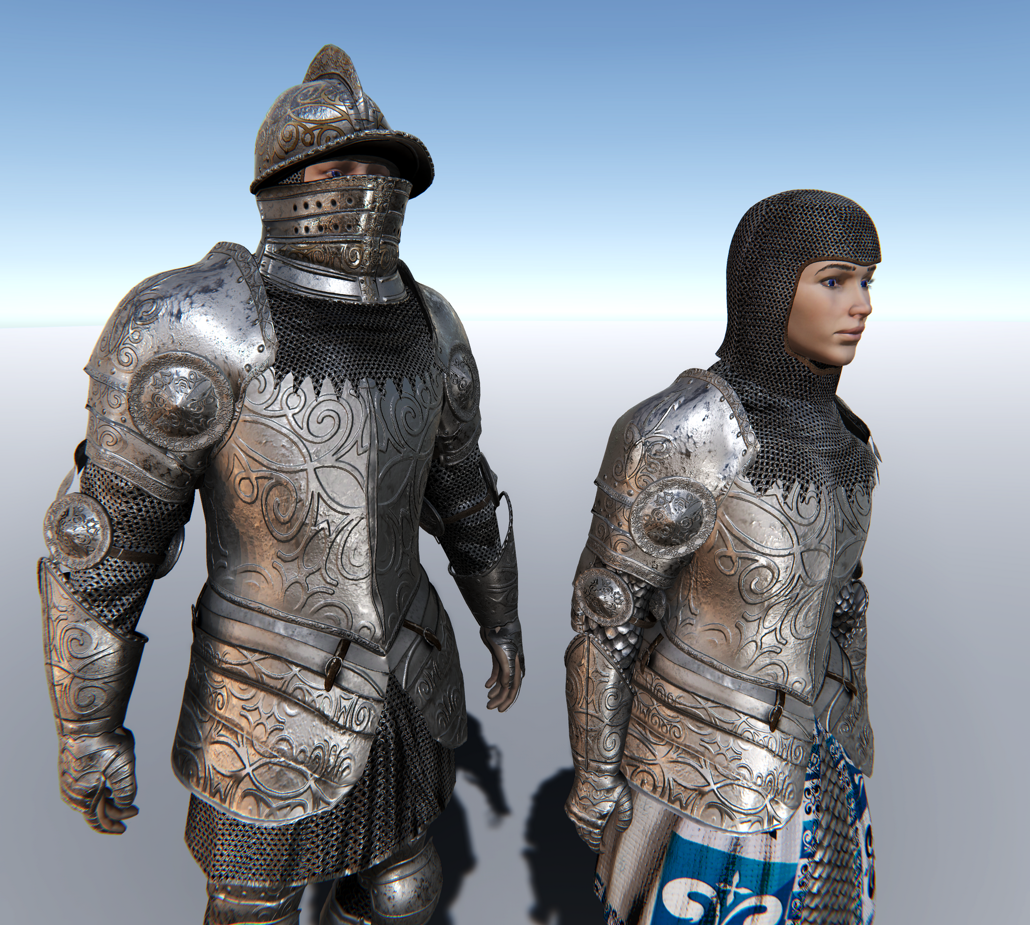 Male & Female Knight A for Unity UMA 2.5 and above