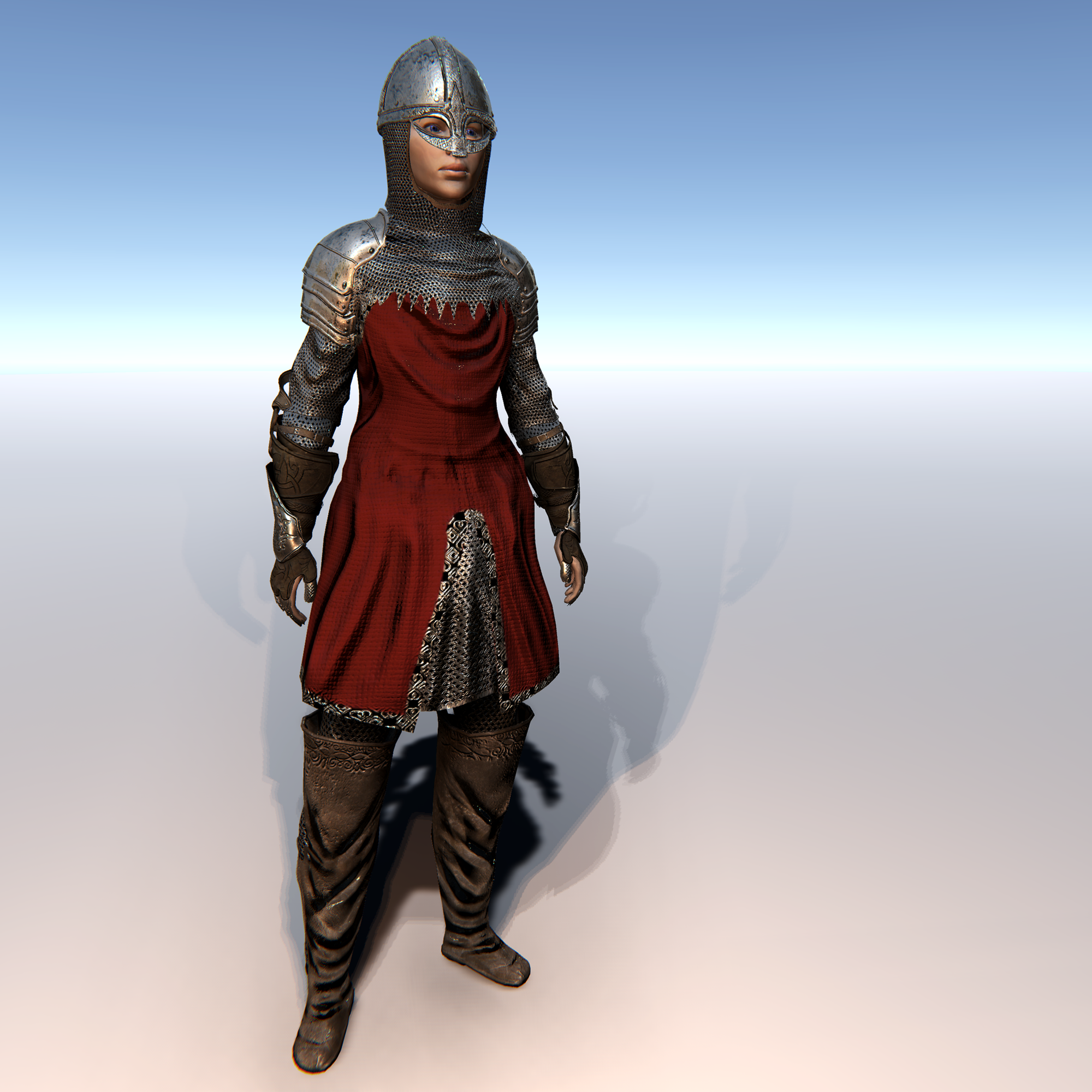 Female Knight E for Unity UMA 2.5 and above