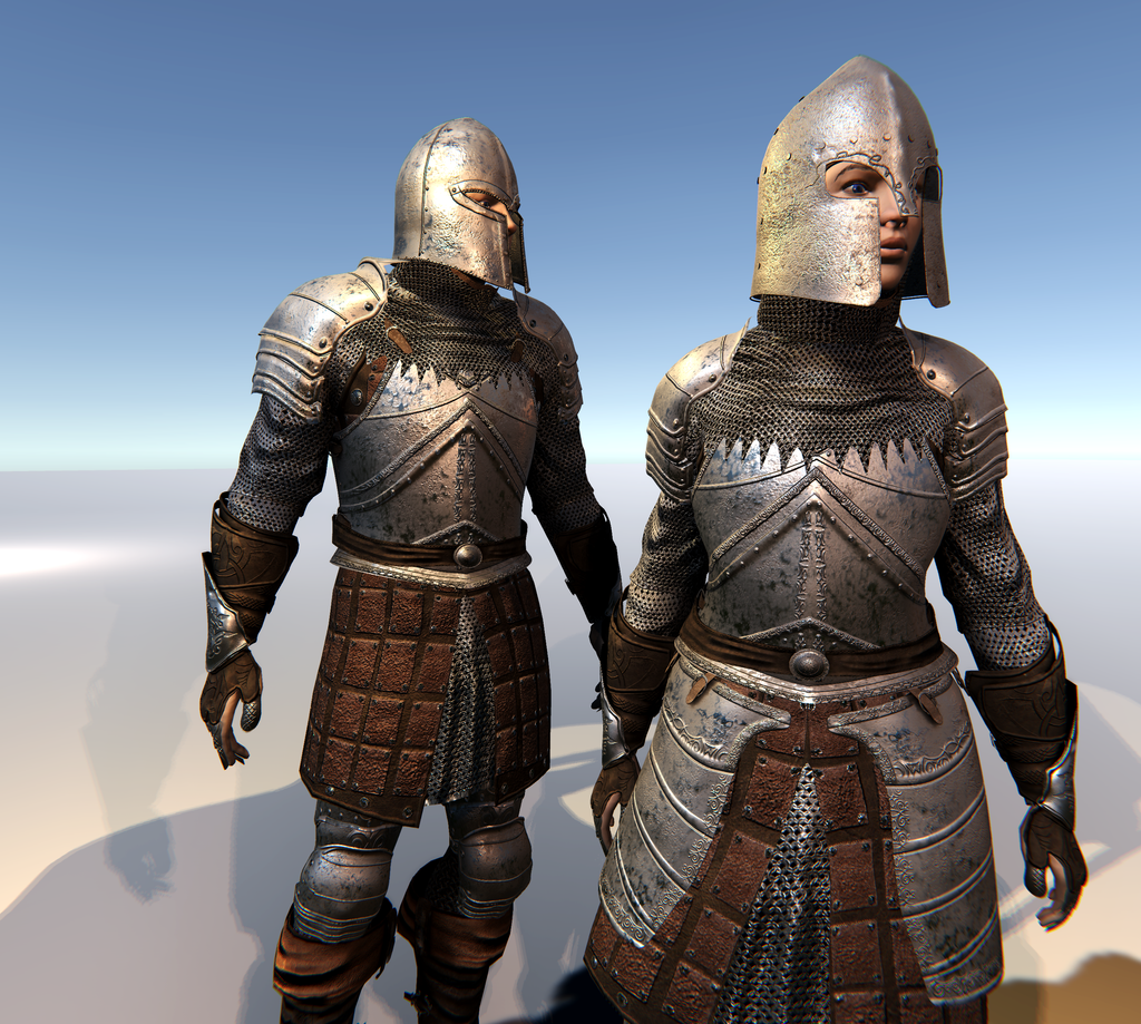 Male & Female Knight F for Unity UMA 2.5 and above