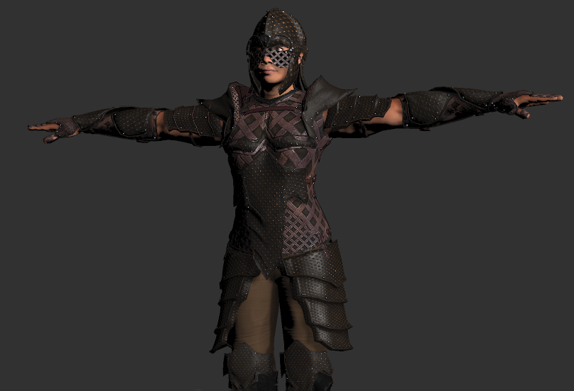 Warrior Leather Armour set for FUSE