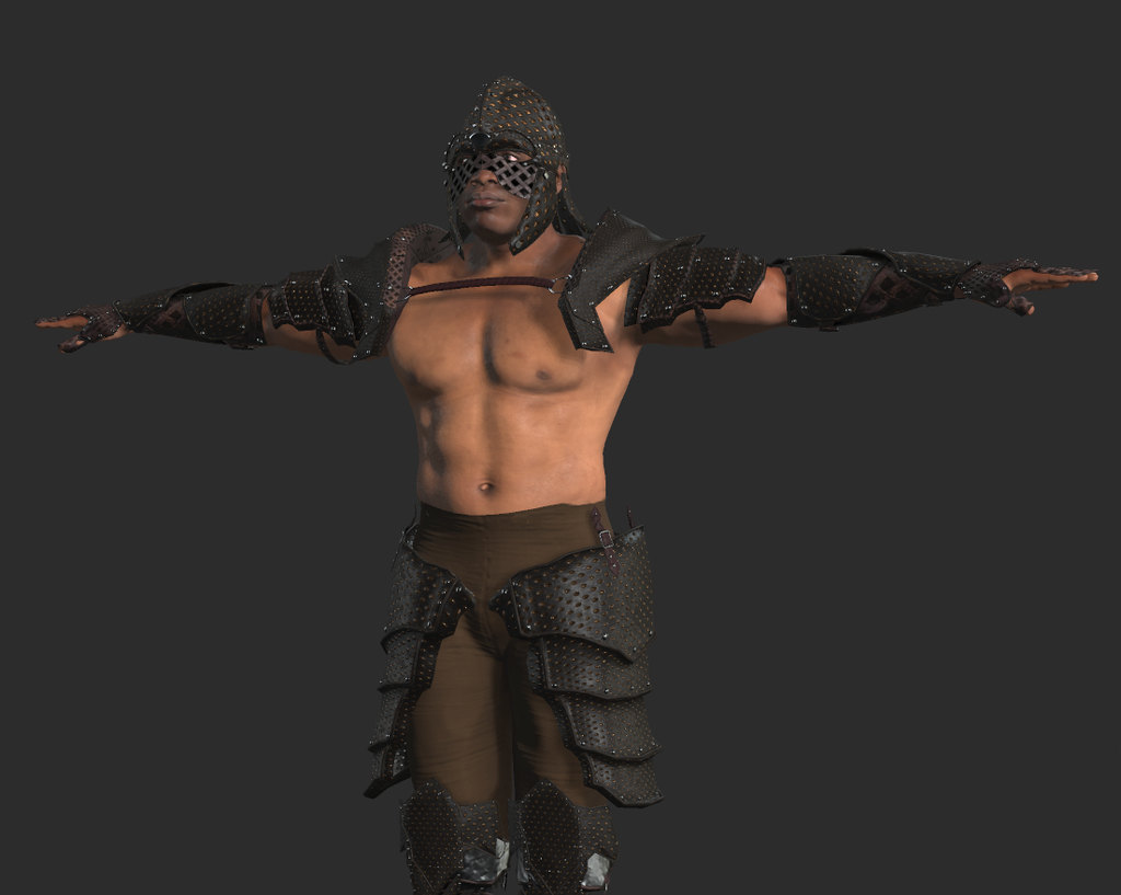 Mixamo Fuse Leather Armoured Warrior Costume release