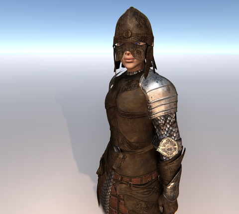 Female Leather Warrior for Unity UMA 2.5 and above