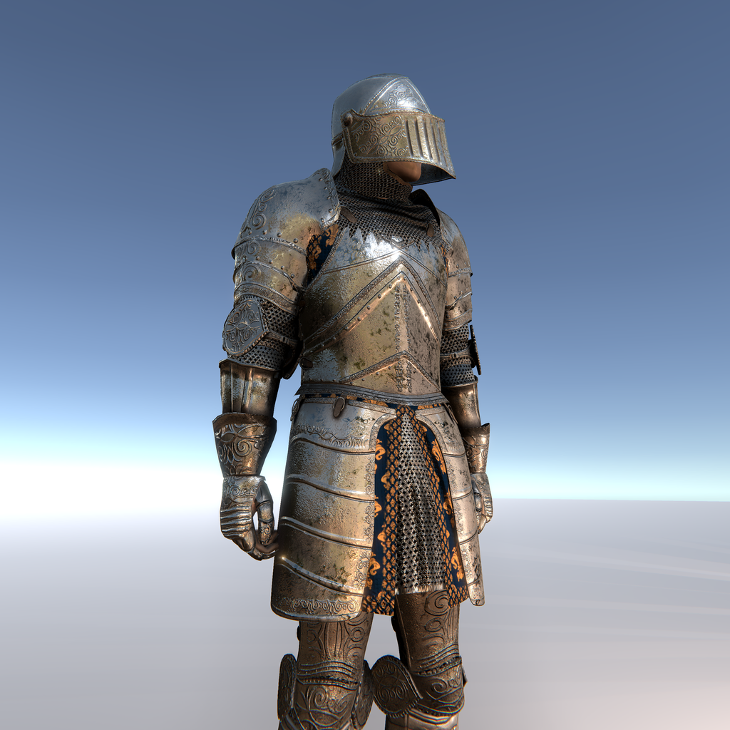 KNIGHT CUSTOMISABLE MODULAR Character for Unity UMA