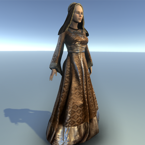 Medieval Female Costume B for UMA2.5