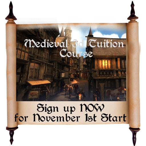 Medieval Building 3d Tuition 6 week Course