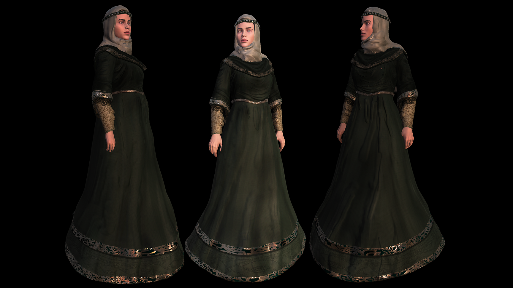 Medieval Female Costume C for UMA2