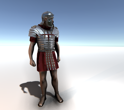 Roman Soldierfor Unity UMA 2.5 and above