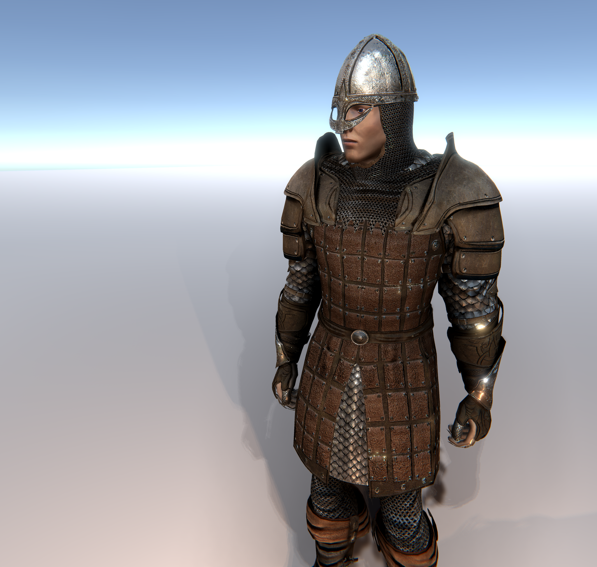 Leather Armour Knight for Unity UMA 2.5 and above
