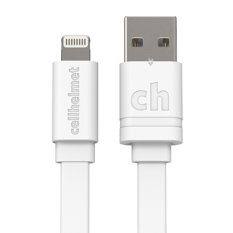 tangle free flat lightning chargesync cable for apple