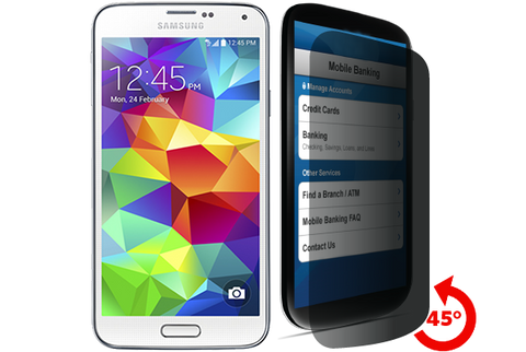 Privacy Tempered Glass for Galaxy S5 by cellhelmet