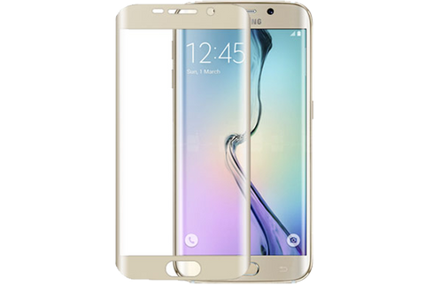 Curved Tempered Glass for S6 Edge+ by cellhelmet - Gold