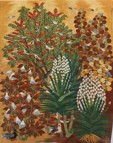 "Sabra Saoud, ""Datura Flowers and Yucca"", 2015"