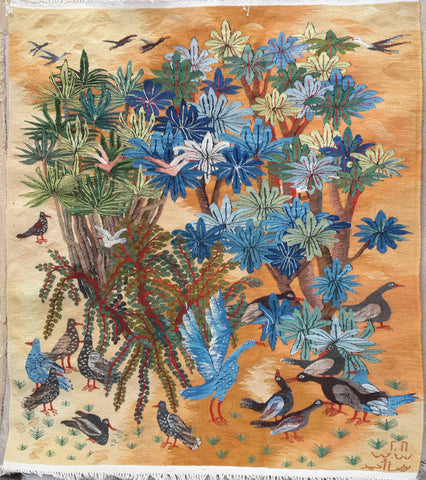 "WDG13, Reda Ahmed, ""Birds and Plants"", 2016, Wool"