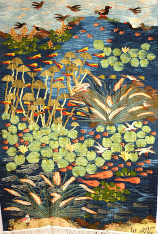 """Lotus and Papyrus Pond"" by Nawara Radwan"