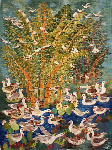 """Egyptian Geese and Bamboo"" by Nagla Farouk"