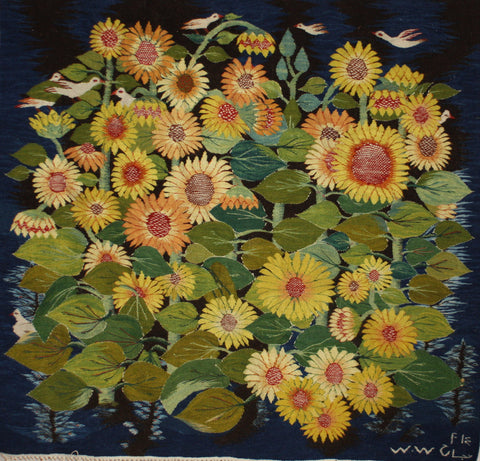 BG-01, Nagah Ibrahim, Sunflowers, 2014, Wool