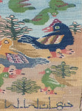"Gyhan Rizk, ""Ducks and Palm Trees"" 2014, Cotton"